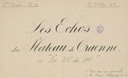 """Accéder à la page """"Echos du plateau de Craonne (Les)"""""""
