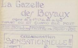 """Accéder à la page """"Gazette des boyaux (La)"""""""