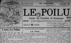 """Accéder à la page """"Poilu. Journal des tranchées de Champagne (Le)"""""""