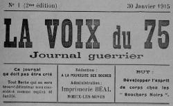 """Accéder à la page """"Voix du 75 (La)"""""""