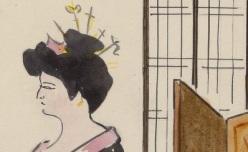 """Y. Marevéry. Maud Amy dans """"Princesse d'amour"""" de Judith Gautier, 1907. 4-O ICO-100 (71)"""