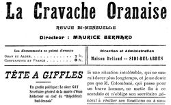 """Accéder à la page """"Cravache oranaise (La)"""""""
