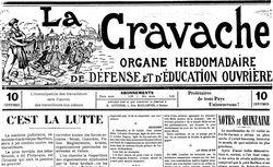 """Accéder à la page """"Cravache (La) : Organe de défense et d'éducation ouvrière"""""""