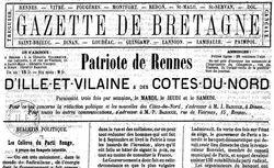 """Accéder à la page """"Gazette de Bretagne (La)"""""""