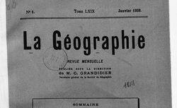 La Géographie : bulletin de la Société de géographie