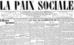 """Accéder à la page """"Paix sociale (La)"""""""