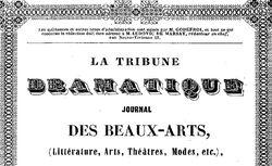 """Accéder à la page """"Tribune dramatique (La)"""""""
