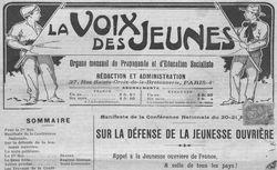 """Accéder à la page """"Voix des jeunes (La )"""""""