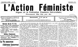 """Accéder à la page """"Action féministe (L')"""""""