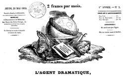 """Accéder à la page """"Agent dramatique (L') : bulletin de Paris, des départemens et de l'étranger"""""""