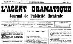 """Accéder à la page """"Agent dramatique (L') : journal de publicité théâtrale hebdomadaire"""""""