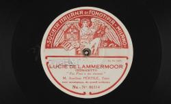 """Lucie de Lammermoor : """"Fra Poco a me ricovero"""" ; Gaetano Donizetti, comp. ; Aureliano Pertile, ténor, avec accompagnement de Grand Orchestre - source : gallica.bnf.fr / BnF"""