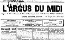 """Accéder à la page """"Argus du Midi (L') """""""