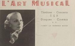 """Accéder à la page """"Art musical (L')"""""""