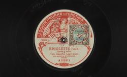 """Rigoletto : """"Questa o quella"""" ; Verdi, comp. ; Giacomo Lauri-Volpi, ténor ; acc. d'orchestre - source : gallica.bnf.fr / BnF"""