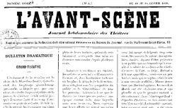"""Accéder à la page """"Avant-scène (L')"""""""