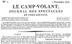 """Accéder à la page """"Camp-volant (Le)"""""""