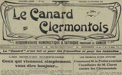 """Accéder à la page """"Canard clermontois (Le )"""""""