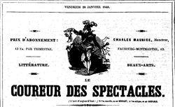 """Accéder à la page """"Coureur des spectacles (Le)"""""""