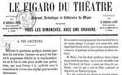 """Accéder à la page """"Figaro du théâtre (Le) """""""