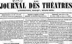 """Accéder à la page """"Journal des théâtres"""""""