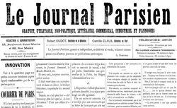 """Accéder à la page """"Journal parisien utilitaire (Le )"""""""
