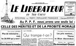 """Accéder à la page """"Libérateur du Sud-Ouest (Le)"""""""