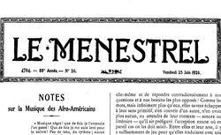 Le Ménestrel : journal de musique