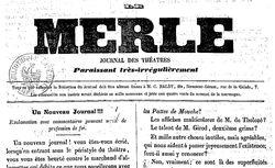 """Accéder à la page """"Merle (Le) """""""