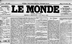 """Accéder à la page """"Monde (Le )"""""""