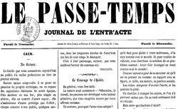 """Accéder à la page """"Passe-temps (Le) """""""