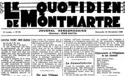 """Accéder à la page """"Quotidien de Montmartre (Le)"""""""
