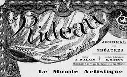 """Accéder à la page """"Rideau artistique et littéraire (Le) """""""