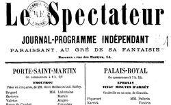 """Accéder à la page """"Spectateur (Le)"""""""