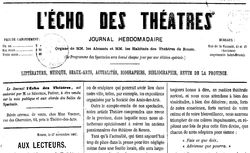"""Accéder à la page """"Écho des théâtres (L')"""""""