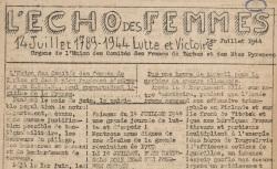 """Accéder à la page """"Echo des femmes (L') (Tarbes et Hautes-Pyrénées)"""""""