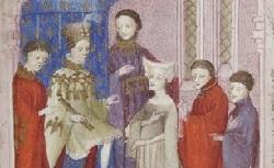 Figure de l'humanisme français: Christine de Pizan a rédigé des poèmes, des traités philosophiques, politiques, et militaires  Ledebatdesdeuxamans_fr.835