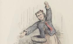 Les Communeux, 1871 : Types, caractères, costumes / par Bertall  (club à l'église)