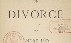"""Accéder à la page """"Un divorce  (1866)"""""""