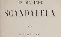 """Accéder à la page """"Un mariage scandaleux (1863)"""""""