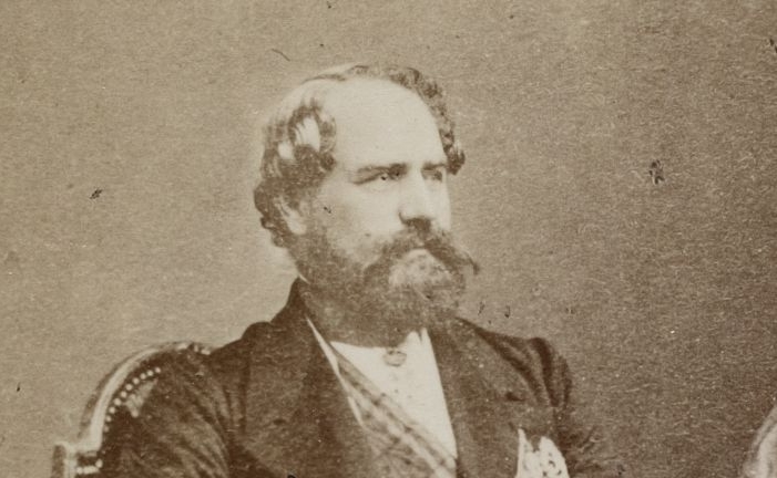 """""""Léon Roches"""". Photographie de Duburguet, 1865. SG PORTRAIT-1591"""