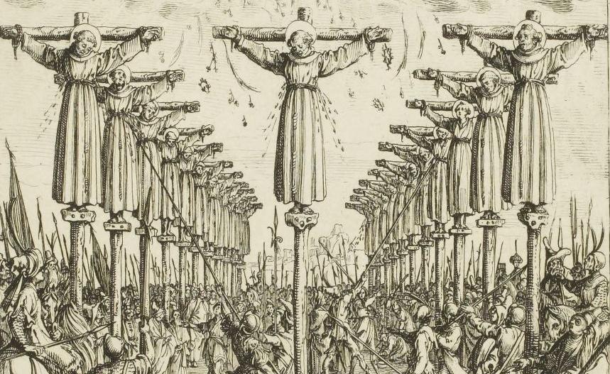 Jacques Callot , [Les martyrs du Japon] : [estampe] ([1er état]) / Callot fec , 1627-1628.
