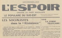 """Accéder à la page """"Espoir (L') (Le Populaire du Sud-Est, Marseille)"""""""