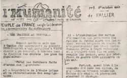 """Accéder à la page """"Humanité de l'Allier (L')"""""""