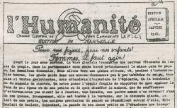 """Accéder à la page """"Humanité (L'), édition de Marseille"""""""