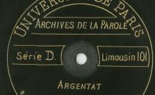 Enregistrements réalisés le 30 août 1913 au village d'Argentat (8 disques)