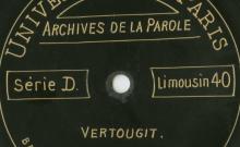 Enregistrements réalisés dans le village de Vertougit le 24 août 1913 (2 disques)