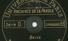 Enregistrements réalisés à Brive le 26 août 1913 (4 disques)