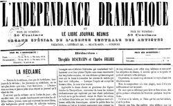 """Accéder à la page """"Indépendance dramatique (L')"""""""