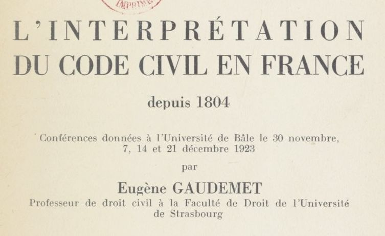 Gaudemet, Eugène (1872-1933)